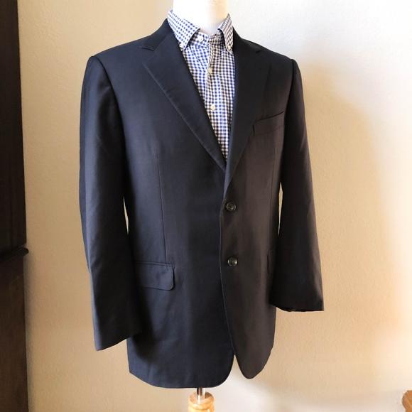 c382ab4fce ERMENEGILDO ZEGNA Navy Blue Blazer Sports Coat 42